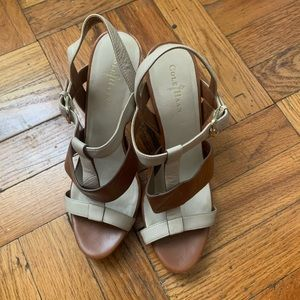 Cole Haan Brown and Tan Leather Sandals